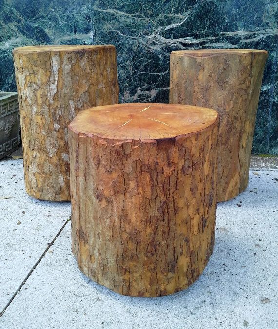 Sycamore Upright Log Stump Stools Tables By Furnitologist