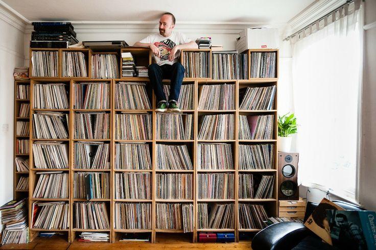 Impresionantes colecciones de discos de vinil y sus orgullosos dueños (FOTOS)