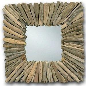 driftwood mirror: Driftwood Mirror, Beachhead Squares, Natural Driftwood, Beaches House, Squares Driftwood, Driftwood Ideas, Squares Mirror, Driftwood Frames, Beachhead Mirror