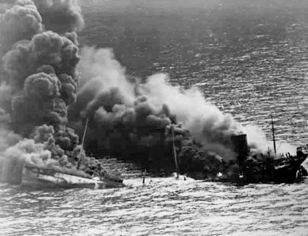 31 Oct 41: The USS destroyer REUBEN JAMES is sunk by German U-boat U-552, killing 100 of her crew. This is the first US naval casualty between Germany and the United States. Although this tragedy does not push either to declare war, it effectively scraps the US Neutrality Acts. #WWII