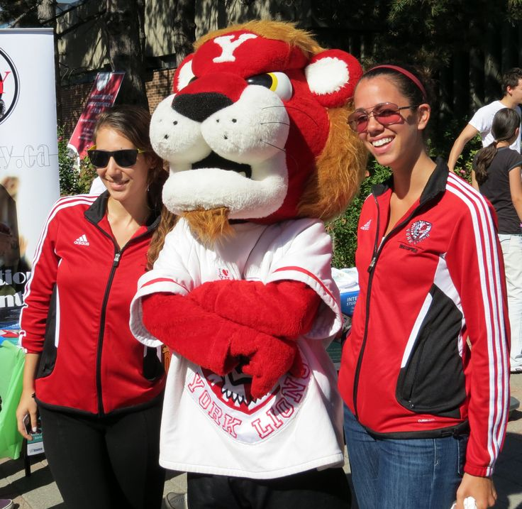 #YUPride | #YorkULions at #YorkFest2013. Get your own pic with the mascots at Red & White Day, Nov 13, 2014: http://www.yorku.ca/redwhite/schedule #YorkU