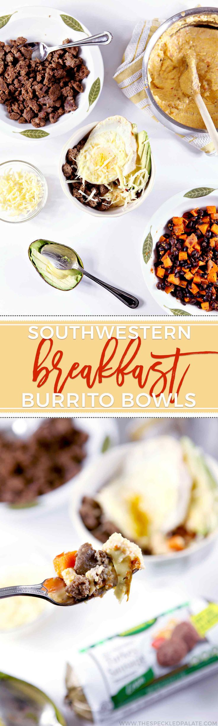 Start the morning with Southwestern Breakfast Burrito Bowls! Breakfast doesn't have to be boring... and a burrito bowl serves as a blast of flavor. #ad #JennieO #SwitchCircle
