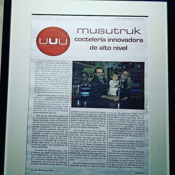 Pequeño recorrido por el historial de musutruk en la prensa. #musutrukgernika #gernika #musutruk #urdaibai #cocktailbar #bar #instagood #cool #instadrinks #drinks #instacool #instalovers #instalife #lifestyle #noticias #prensa #bartending #bartender #barmaid #mixology #cocktails #cocktailsandmusic