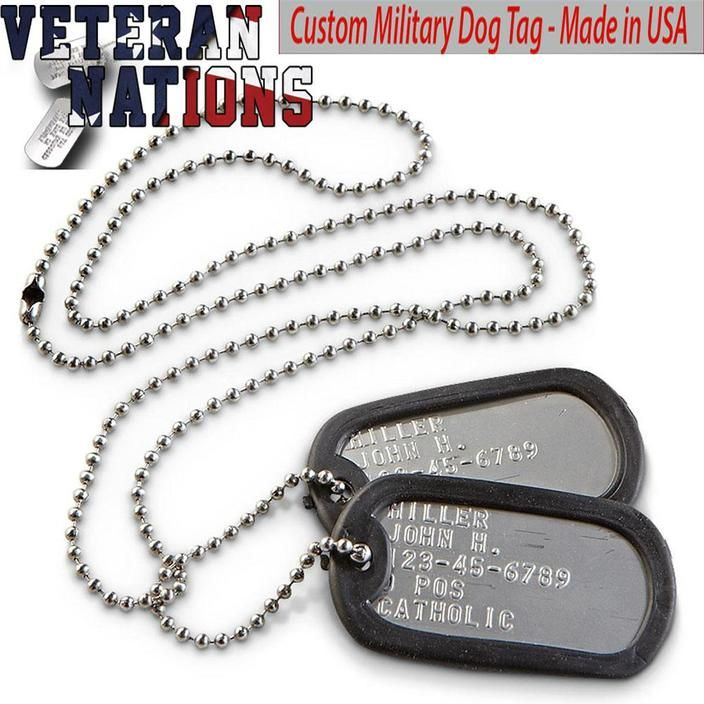 Set of 10 Blue GI Military Dog Tag Silencer.