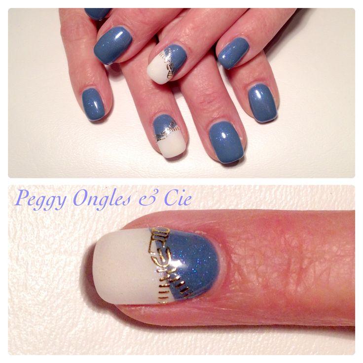 Ongles gel uv couleur bleu navy ongles pinterest ongles et bleu marine - Ongle bleu marine ...
