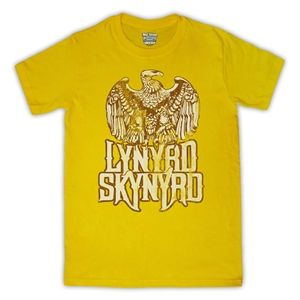 Lynyrd Skynyrd Free Bird Mens T-Shirt (Yellow)