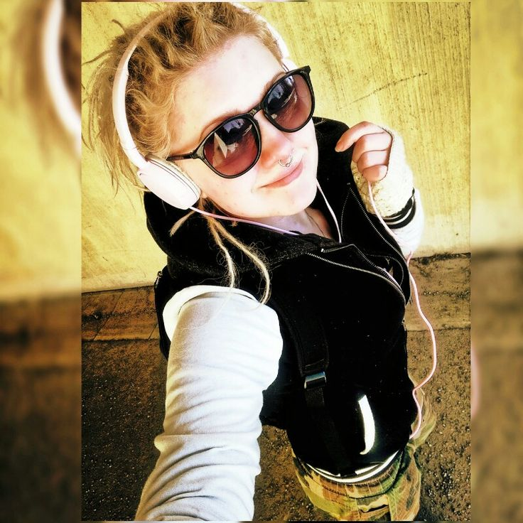 Looking fabulous Rasta hair dreads locks dreadlocks streat style girl camo pants baseballjacket sunglasses blonde finland
