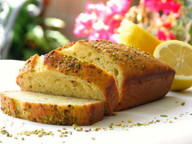 lemon, thyme + pistachio loaf
