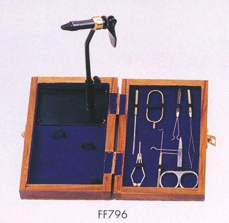 Standard fly tying kit with wooden box reelinndealin for Fly fishing tying kit
