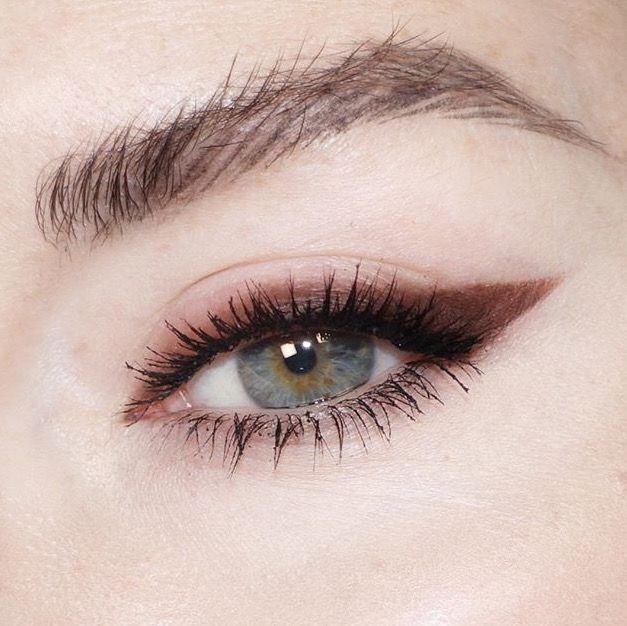 Brown smuggy winged eyeliner, softer look for summer!