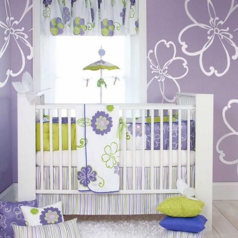 Elegant Crib bedding for girls purple
