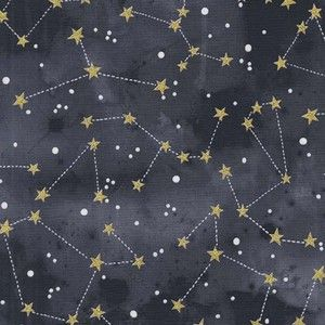 Michael Miller House Designer - Moon and Stars - Constellation in Graphite