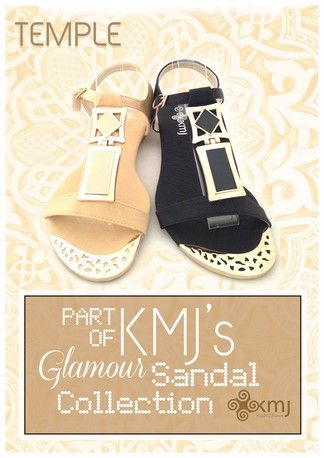 Temple is a beautiful low wedge sandal available in beige & black with a padded insole. Sizes EU36 to EU42 available Australian summer 2015 www.kmjshoes.com.au