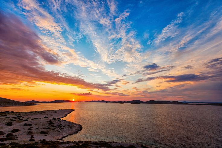 Sunset Over the Kornati Archipelago
