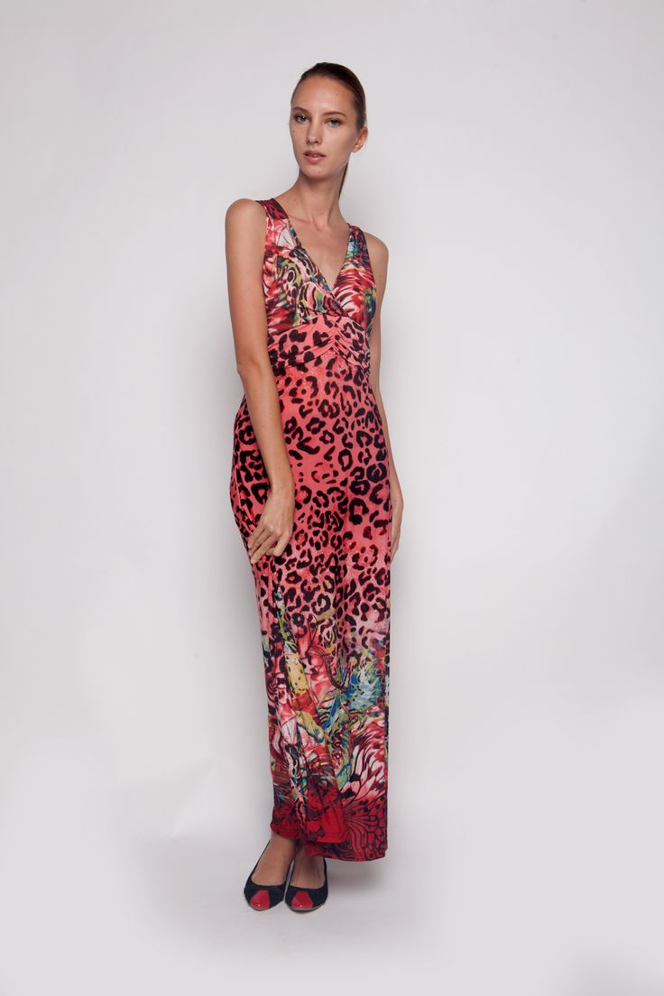 Leopard Maxi Red