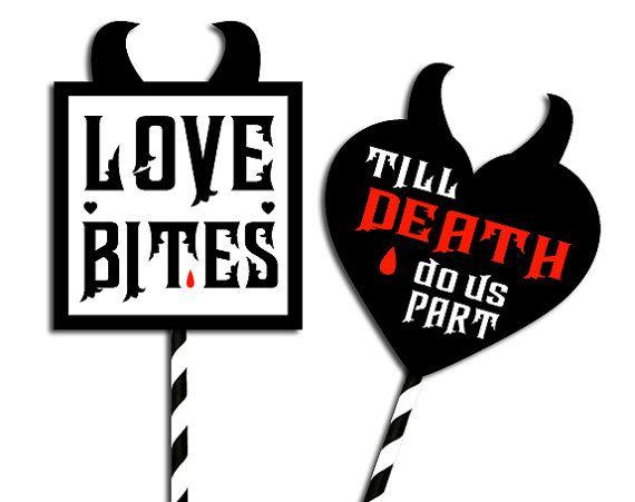 D.I.Y. Foto booth party rekwisieten Love Bites van 12punt3 op Etsy