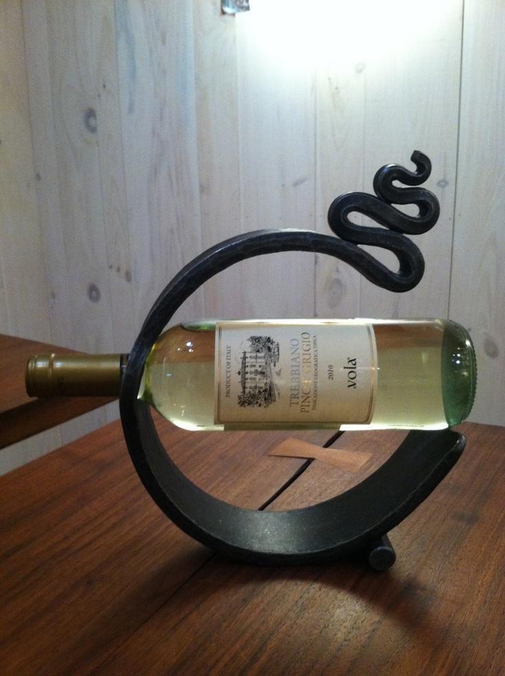 Hand Forged Wine Caddy  Thoughtfully designed by Oak Hill Iron  www.oakhilliron.com / 828.437.5348