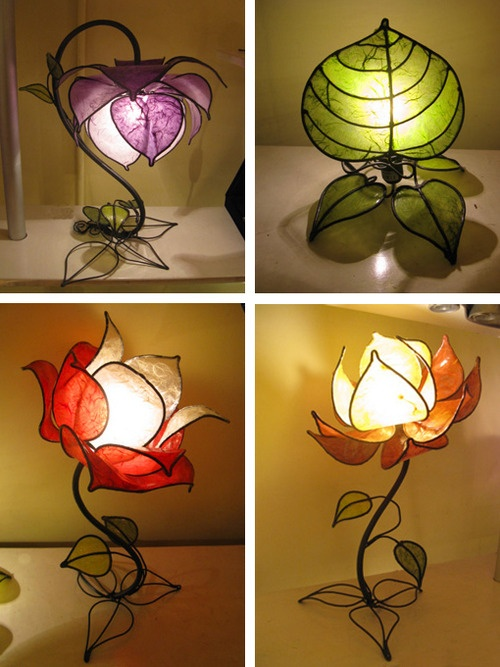 flower-shaped lamps