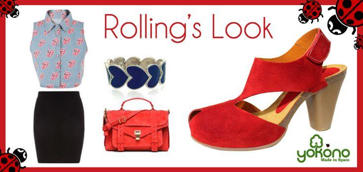 The Rolling's Stones siguen estando de moda incluso en tu armario. Prueba este look con tus zapatos Yokono y ¡triunfa!