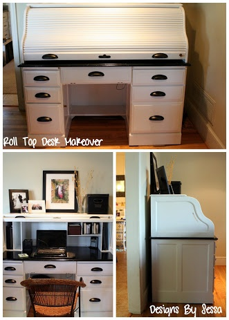 desk refinish on Pinterest | Rolltop desk, Desks and Desk makeover