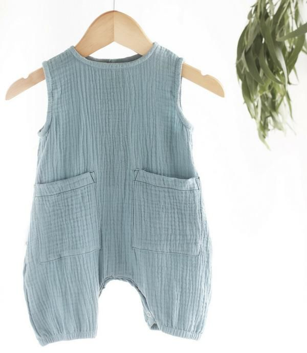 Muslin Cotton Baby trainers //pants100/% Organic Cotton made in USA Grey