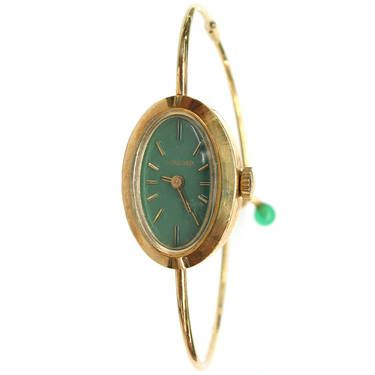 Vintage concord 14k yellow gold ladies bangle watch watches pinterest jewelry watches for Ladies bangle watch