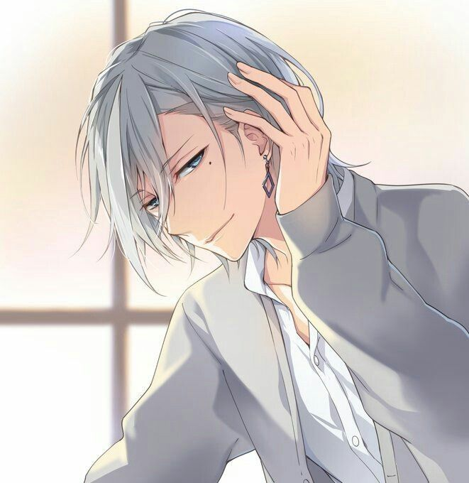 Pin By Ayumi On صور أنمي شباب Cool Anime Guys Anime Drawings Boy White Hair Anime Guy