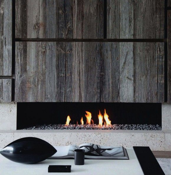 Super Awesome Fireplace; The Wood And Concrete Are Amazing.