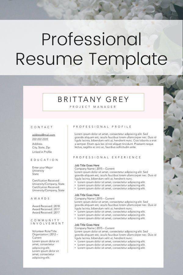 Modern Custom Professional Resume/CV Template Instant Digital
