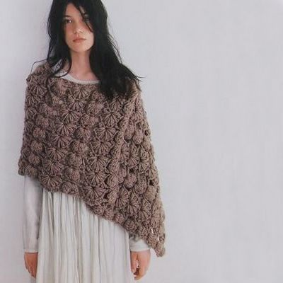 Yarning: Capes and ponchos Japanese style I LOVE this shawl! If anyone out there knows where I can find the pattern I'd really appreciate it!