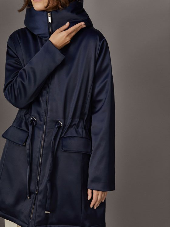 Fall Winter 2017 Women´s PARKA WITH BOW BELT at Massimo Dutti for 99.95. Effortless elegance!