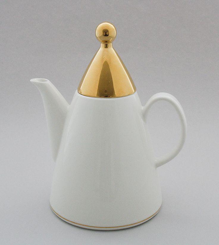 Arabia, kahvikannu, Harlekin gold, Inkeri Leivo