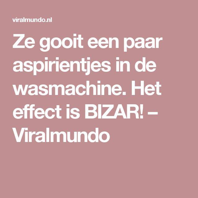 Ze gooit een paar aspirientjes in de wasmachine. Het effect is BIZAR! –…