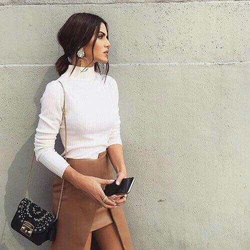 Love this skirt..who says neutral is boring..love the texture of the wrap element