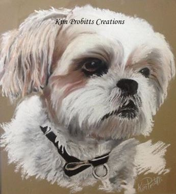 Another Pastel Pet Portrait completed before Christmas.