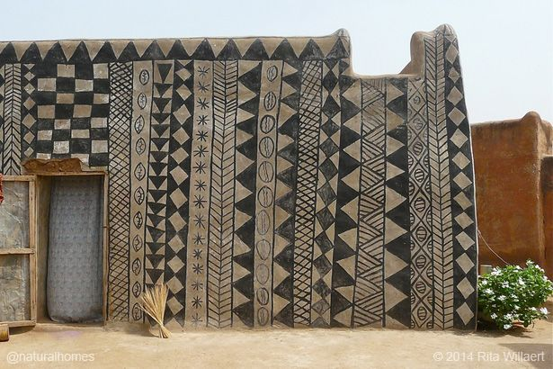"..""earthen homes of the Gurunsi in Burkina Faso""..."
