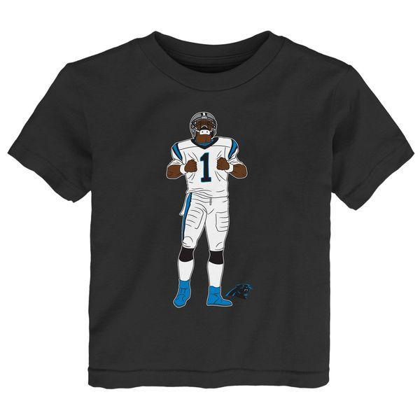 Cam Newton Carolina Panthers Toddler Celebration Pose T-Shirt - Navy - $19.99