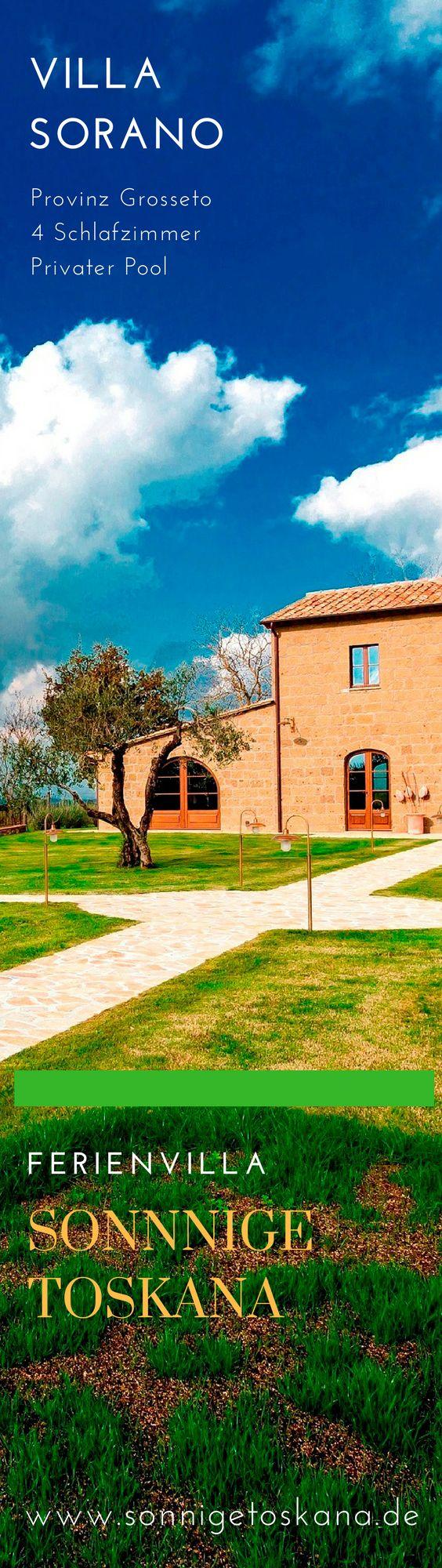 Villa Sorano, Italien, Toskana, Provinz Grosseto, 4 Schlafzimmer, Privater Pool. www.sonnigetoskana.de #ferienhaus #ferienvilla #sonnigetoskana #urlaub #reise #villa #mieten #rental #villa #italianvillas #travel #travelitaly #tuscany #toskana