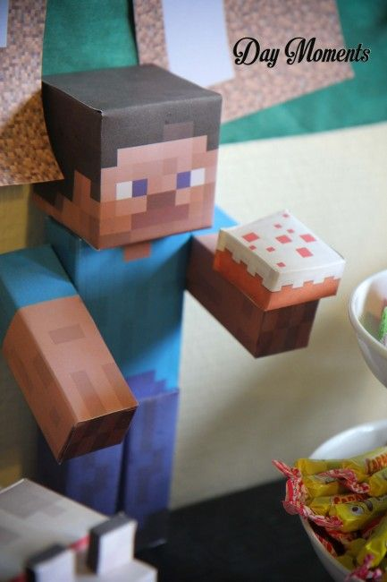 Anniversaire Minecraft » Day Moments papercraft