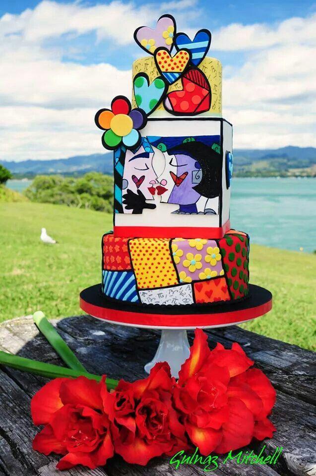 Romero Britto inspired cake