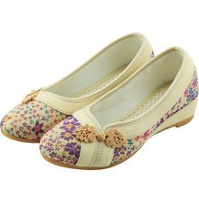 2017 New Women Flower Flats Slip On Cotton Fabric Casual Shoes Comfortable Round Toe Student Flat Shoes Woman Plus Size XWD3644 //FREE Shipping Worldwide //