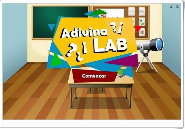 """""""Adivina Lab"""" es un juego, de la Junta de Castilla y León, en el que se plantean bonitas adivinanzas que son apropiadas para 3º y 4º niveles de Educación Primaria."""