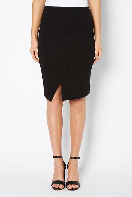 Angled Ponte Skirt