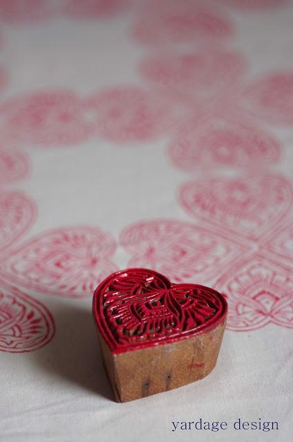 yardage design ~ hand printed fabric and homewares: printing :: with blocks