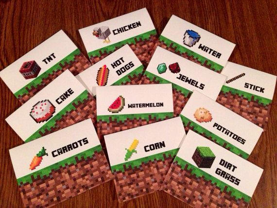 Minecraft Birthday Party Sign Tents  Bookmarks #minecraft Minecraft Party Ideas!