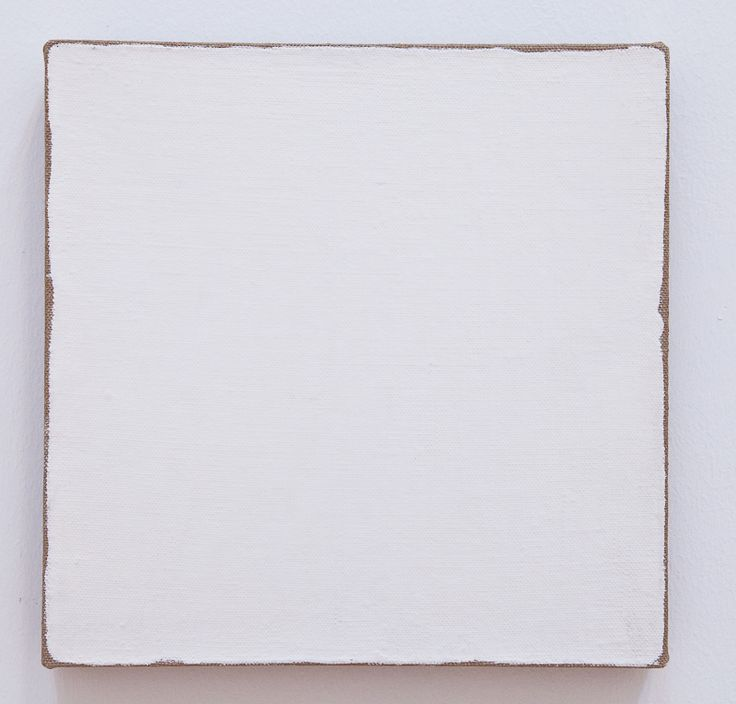 Robert Ryman, Untitled (1965). 10.125 inches square, enamel on linen. Collection SFMOMA.