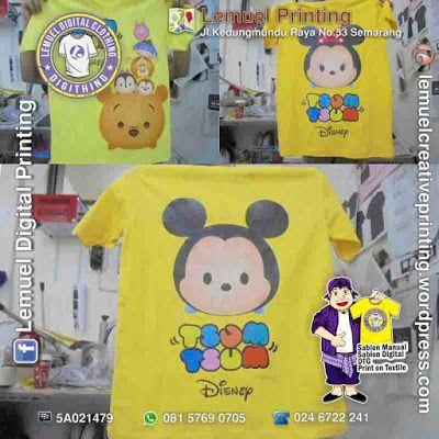 Custom Sablon Kaos Family Thema Tsum Tsum Disney Berkualitas By DIGITHING
