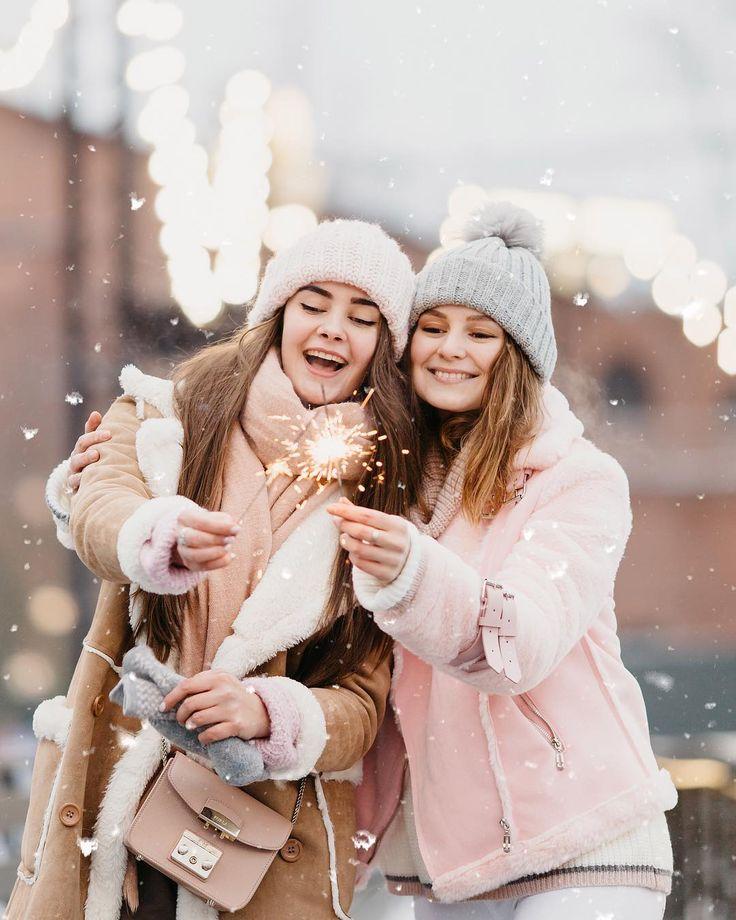 Красивые зимние фотографии с подругой