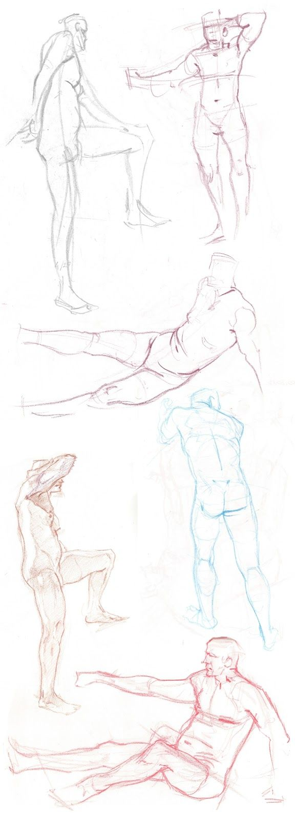 Lifedrawing session drawings