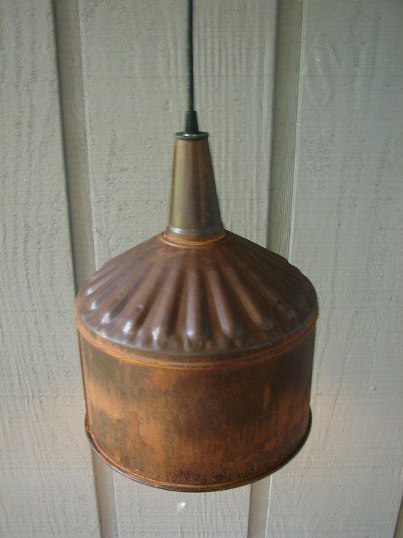 183 best diy lighting images on pinterest chandeliers for Diy rustic pendant light